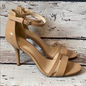 Nine West Tan Patent Leather Heel 8
